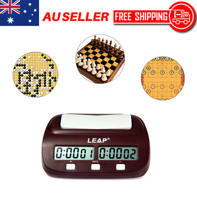 Digital Chess Clock Compact Count Up Down Timer Electronic Board Game Player AU
