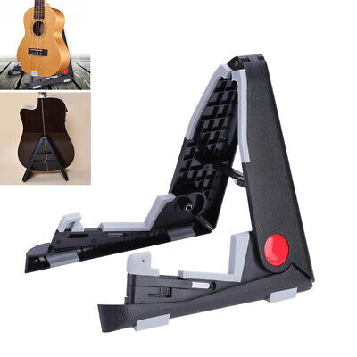 Folding Electric Acoustic Bass Ukulele Guitar Stand A Frame Floor Rack Holder