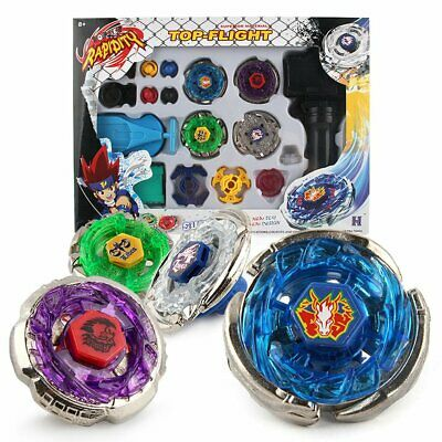 Kids 4D Fusion Top Metal Master Rapidity Fight Rare Beyblade Launcher Grip SetNヤ
