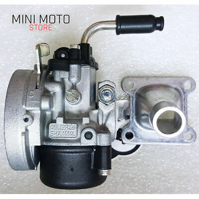 Carburatore Tipo Dell'Orto SHA 14mm + Collettore Minimoto Aria