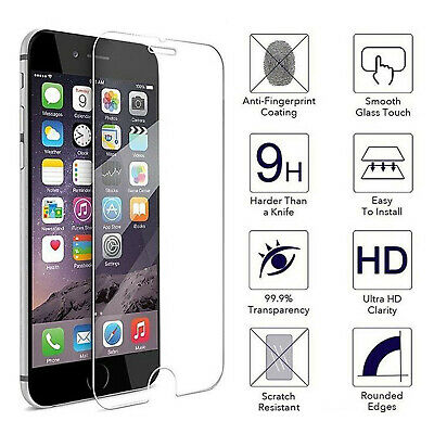 Tempered Glass Screen Film Protector For Apple iPhone 6 plus 100% Genuine Clear