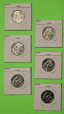2019 PDS set x2(6 Coins) Lowell America the Beautiful (ATB)–Mint Bags in hand