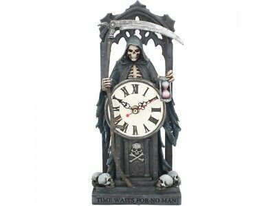 TIME WAITS FOR NO MAN by Anne Stokes Clock 30.5cm Nemesis Now Gothic FREE P+P