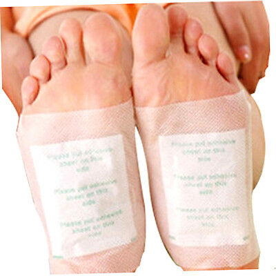 100 PCS Detox Foot Patch Pads Detoxify Toxins Fit Health Care Detox Pa C♡