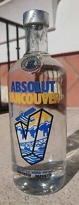 Absolut Vodka Vancouver Limited Edition Full & Sealed 750ml