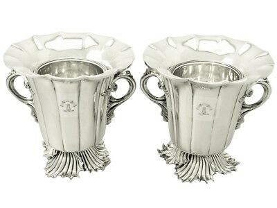 Antique Victorian Old Sheffield Plate Wine Coolers