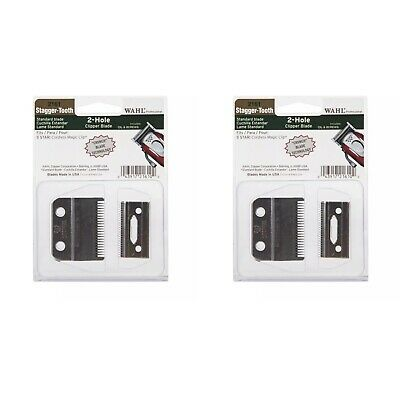 2 X WAHL Crunch Stagger-Tooth Blade Set WA2161-400 for Cordless Magic **GENUIE**