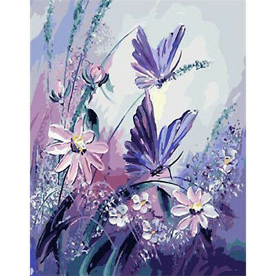 Butterfly & Daisy DIY Paint by Numbers Kit Framed Unframed Canvas Painting 40x50
