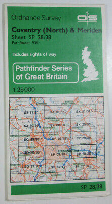 1978 OS Ordnance Survey 1:25000 Pathfinder Map 935 Coventry (N) Meriden SP 28/38