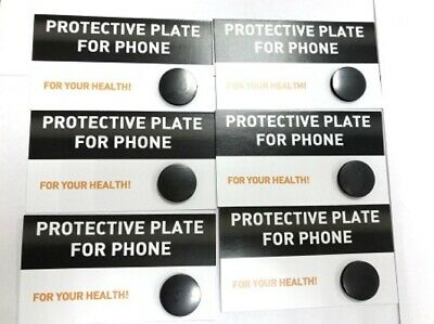 6 shungite circular plate for cell phone, polished