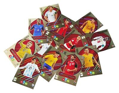 Adrenalyn Xl Russia 2018 Limited Edition Treading Cards
