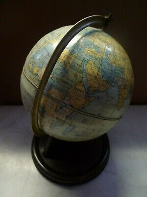 Vintage Chad Valley Tin Toy Spinning World Globe Made In England
