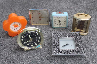 Job Lot Of Mixed Clocks Big Ben Westclox Mechanical Battery Clocks Alarm Mantle