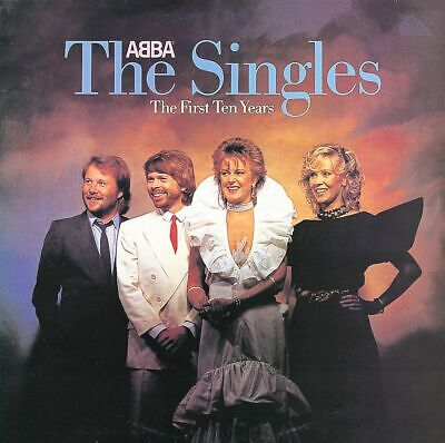 ABBA The Singles The First Ten Years Vinyl LP Cover Sticker or Magnet