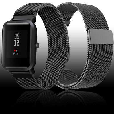 Milanese Loop Magnetic Stainless Steel Watch Band Strap for Huami Amazfit Bip