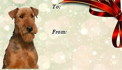 Airedale Terrier Dog Self Adhesive Gift Labels by Starprint