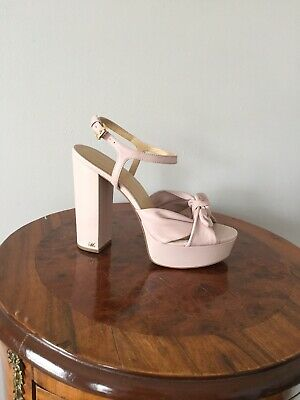 4e56c7b4a7 Michael Kors NWT Pippa Platform Front Bow Block Heel Sandals Soft Pink, Size  8.5