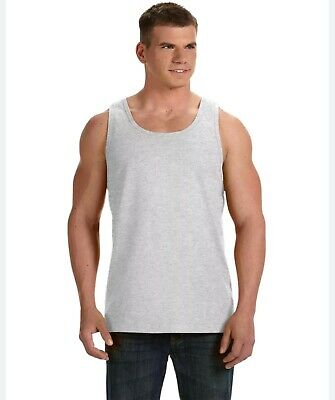Fruit of the Loom Adult HD 100% Cotton Tank Top Men's Heavy Cotton L-XL 39TKR