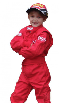 MIR CIK Level 2 Kids Kart Karting Suit Indoor/Outdoor RED Size: 34 (126-130cm)