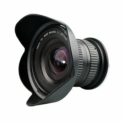 15mmF/4 F4.0 F32 High Definition Ultra Wide Angle Macro Lens for Canon Nikon FR