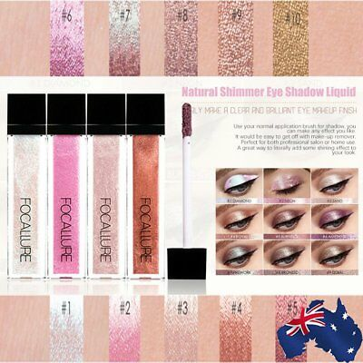 10 Colors Glitter Shimmer Metallic Eyeshadow Waterproof Liquid Eye Shadow Pen J⊿