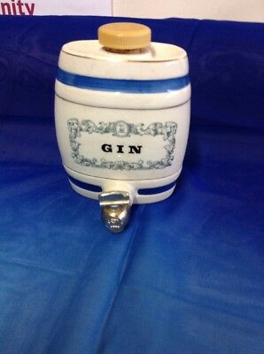 Royal Victoria Wade Vintage Pottery GIN Barrel Decanter - W & A Gilbey Limited