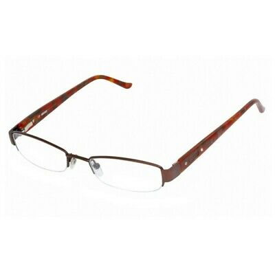 31f412b9e461 Bongo BG0103-PRETTY-D96-48 Women's Brown Frame Clear Lens Genuine Eyeglasses  NWT
