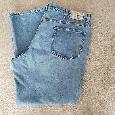 Redhead Mens Denim Blue Jeans 46x31 Relaxed Fit 5 Pocket Style Bass Pro Cotton