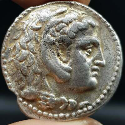 Unique Stunning Alexander The Great Old Silver coin   #9N
