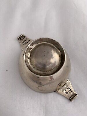 INDIAN Solid Silver Quaich c1820 CALCUTTA Hamilton & Co