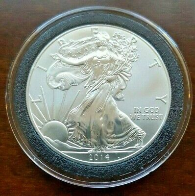 2014 BU American Silver Eagle in Air-Tite - 1 OZ .999 silver