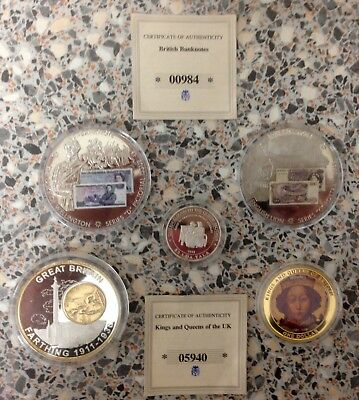 Rare Collectible Coins, Mint Condition Uncirculated, Silver/Gold, Selling Cheap