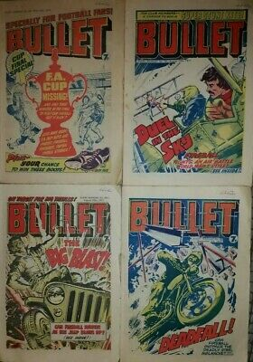 Bullet Comic X4 1977 Issues