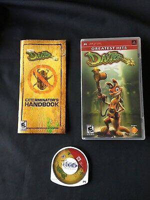 Daxter (Sony PSP, 2006) GREATEST HITS PORTABLE GAME COMPLETE PREOWNED FREE SHIP