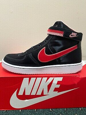 cc5c21ad81 NIKE Kid's Vandal High Supreme QS (GS) Shoes Black/Speed Red-Bleached