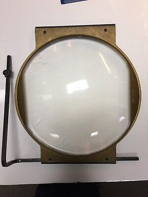 Large Antique Scientific or Movie Convex Magnifying Glass Lens