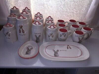 NEW! Rae Dunn Easter/Spring Bunny Collection Lot