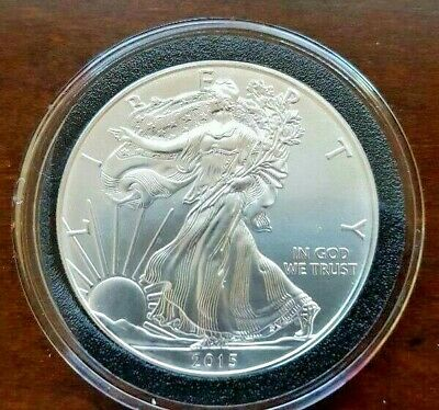 2015 BU American Silver Eagle in Air-Tite - 1 OZ .999 silver
