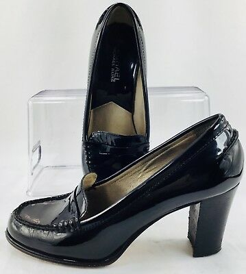b397d427dd66 Michael Kors Bayville Penny Loafer Pump Womens Sze 6 M Black Patent Slip On  Heel