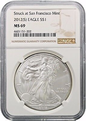 2012 (S) American Silver Eagle NGC MS69 San Francisco Mint #5