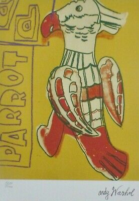 Andy Warhol Parrot Yellow Signed & Hand Numbered 1211/5000 Lithograph