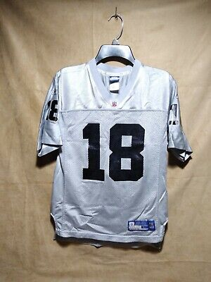 huge selection of a91ae f3f0d RANDY MOSS #18 Oakland Raiders Vintage Reebok Jersey Size Youth L NFL. T11