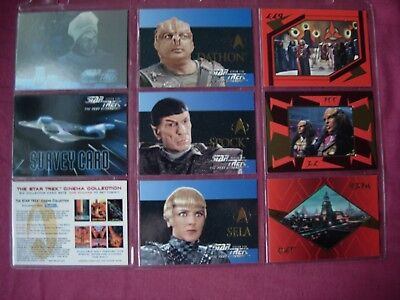 Star Trek Next Generation Season 5 X9 assorted Chase cards 1996 Fleer/Skybox