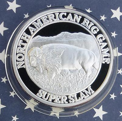 Bison 1 Troy oz .999 Fine Silver Round, Big Game Super Slam Series Buffalo