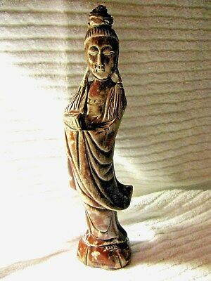Wood Sculpture Hand Carved  High Statue  With Artist Signature