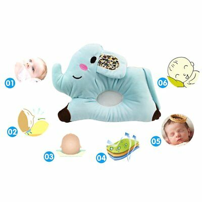 Elephant Newborn Baby Pillow Comfortable Baby Flat Head Sleeping Pillow D▩