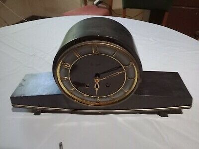 Old Wooden Mantel Clock