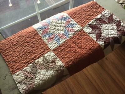 Back In Time Textiles~ Very nice 1860 Antique Civil War Era Cutter quilt pc ~