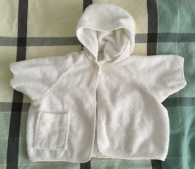 Vintage 1960s Terry Cloth Hooded Baby Bath Robe - Possibly Handmade - One owner