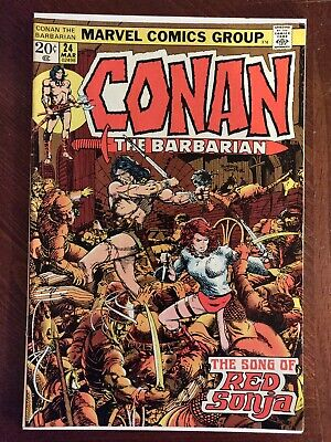 Marvel Comics Conan The Barbarian #24 First Appearance Of Red Sonja *Key* Comic